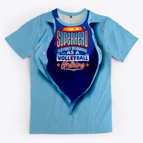 The Volleyball Grandma Super Hero Volleyball Shirt Blue