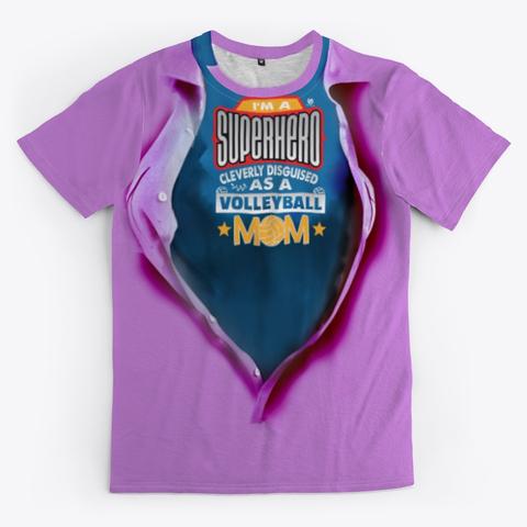 The Volleyball Grandma Super Hero Volleyball Shirt Purple