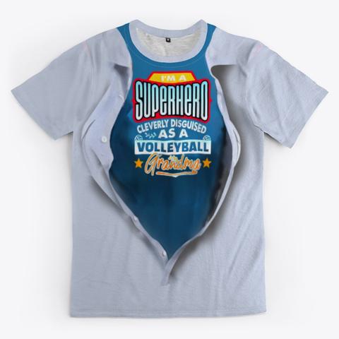 The Volleyball Grandma Super Hero Volleyball Shirt White