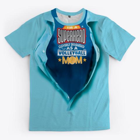 Super Hero Volleyball Mom Volleyball Shirt - Blue