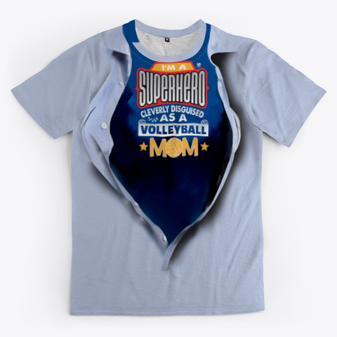 Super Hero Volleyball Mom Volleyball Shirt - Grey