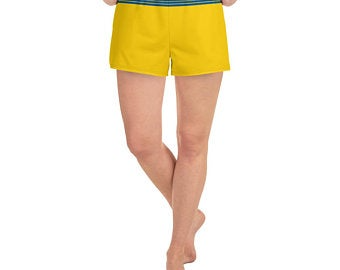 Sweden Flag Inspired Sports Bra and Shorts Outfits