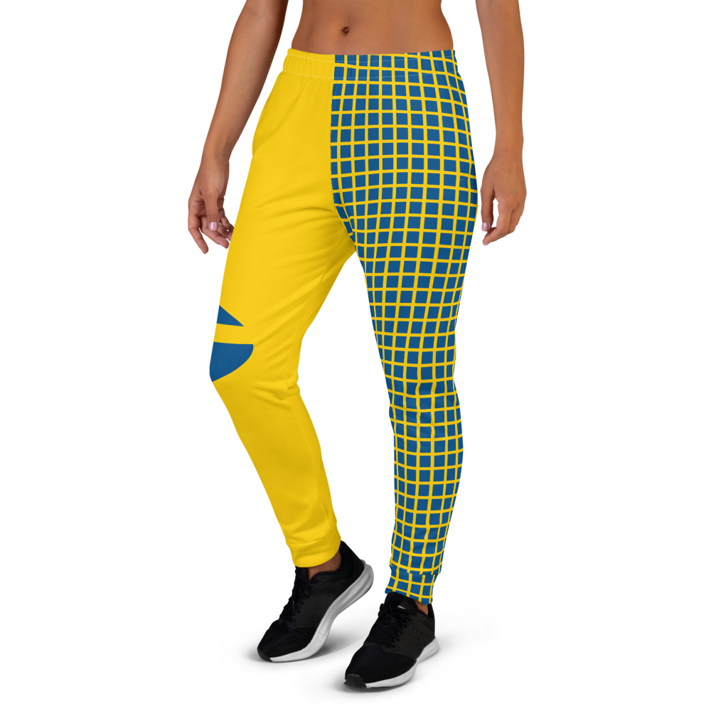 Yellow jogger pants inspired by the national flag of Sweden by Volleybragswag