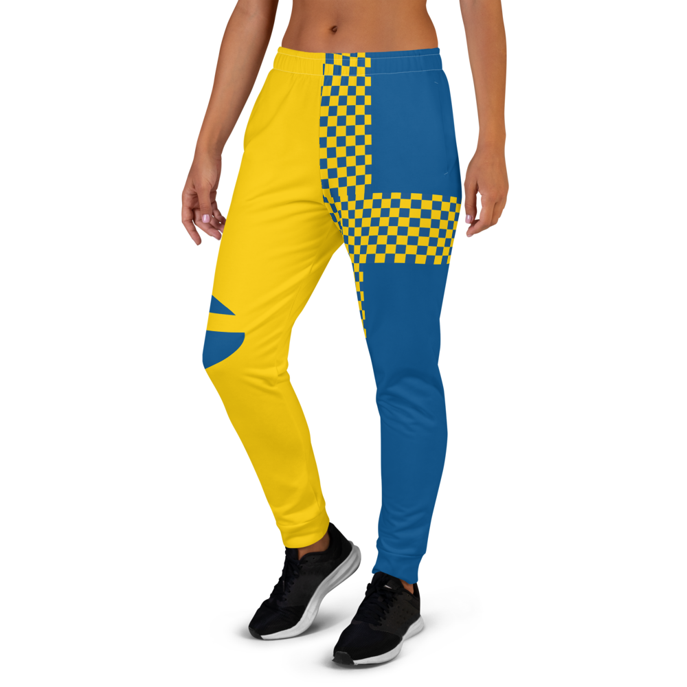 Yellow joggers pants inspired by the flag of Sweden