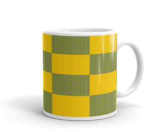 Yellow and blue volleyball mugs inspired by the national flag of Sweden available Spring 2021.