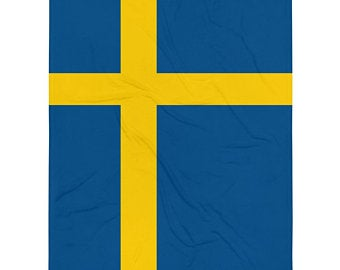 Yellow and blue volleyball blankets inspired by the national flag of Sweden available Spring 2021.