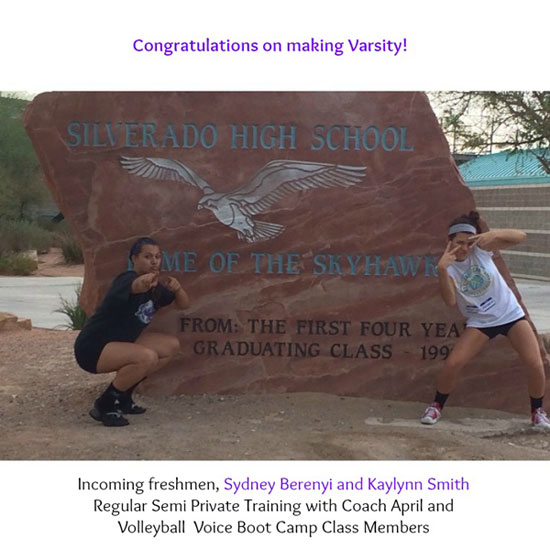 Sydney Berenyi and Kaylynn make varsity as incoming freshmen at Silverado High School