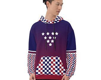 My colorful country flag inspired unisex oversized volleyball hoodies by Volleybragswag are now sold on ETSY and are inspired by flags from Japan, Poland, like this volleyball design from USA.