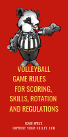 Volleyball Game Rules: For Scoring Skills Rotation and Regulations by April Chapple