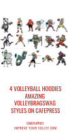 Four Volleyball Hoodies Amazing Volleybragswag Styles on Cafepress by April Chapple