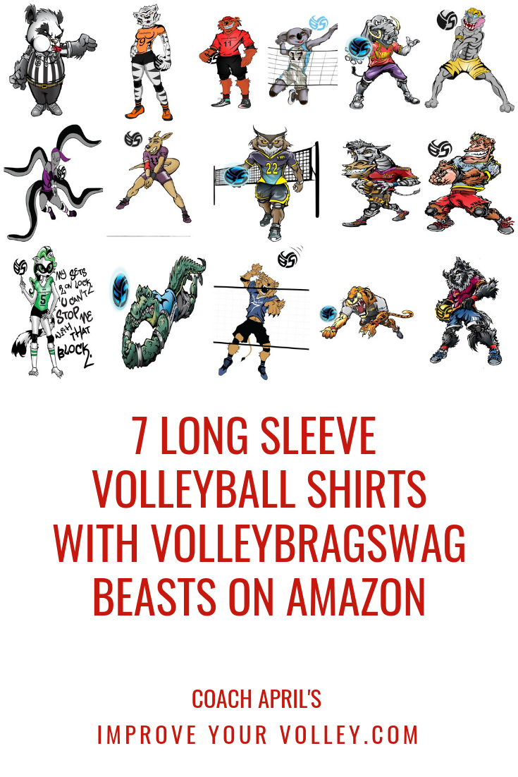 7 Long Sleeve Volleyball Shirts With Volleybragswag Beasts on Amazon