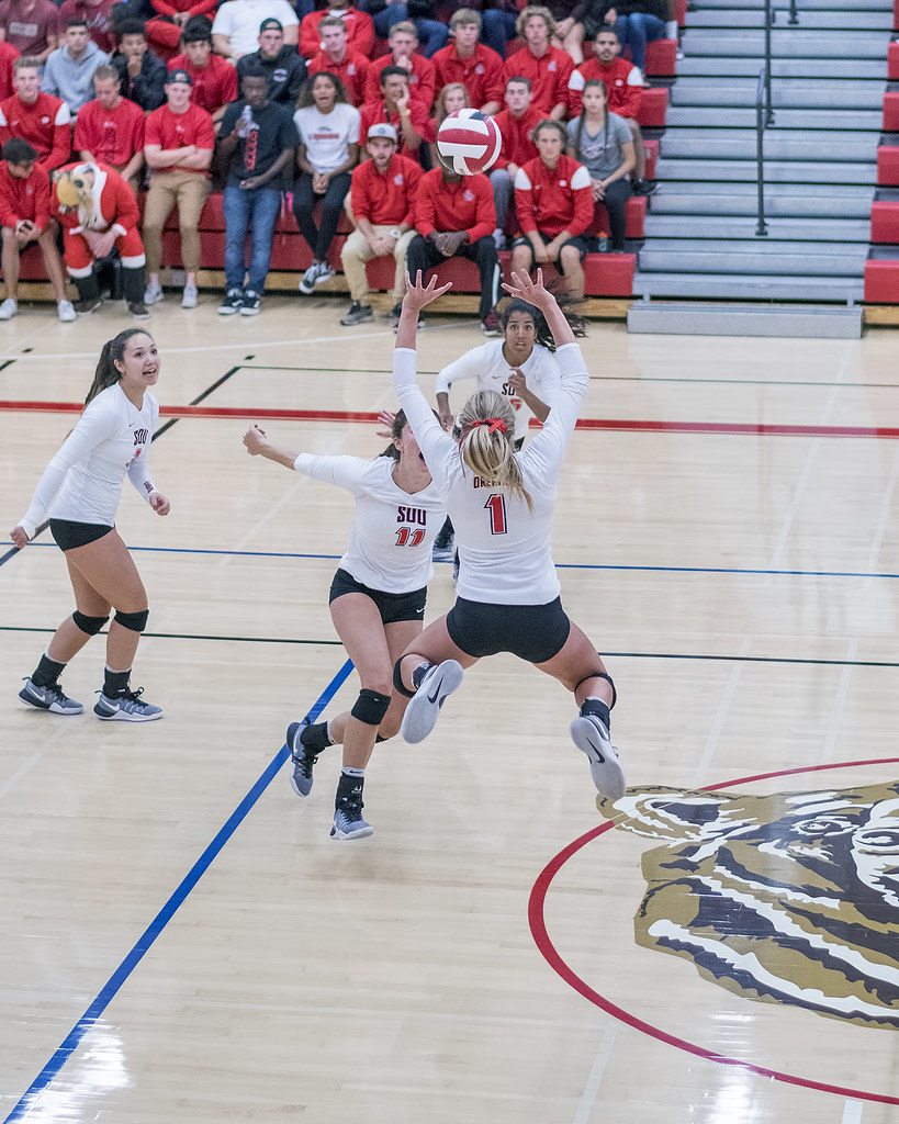 Position in Volleyball: Setters. The volleyball setter leads the team by running the offense delivering sets to each of her hitters in an effort to score points. (Al Case)