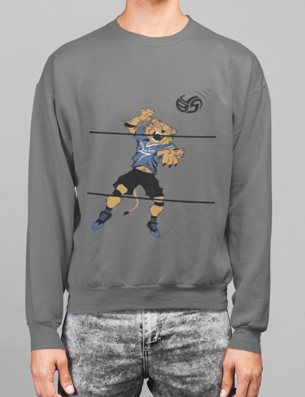 Volleybragswag designed Amazon Sweatshirts featuring T.T MUGB aka Things That Make U Go Boom left side hitter are unisex and available on Amazon Prime at $35.99