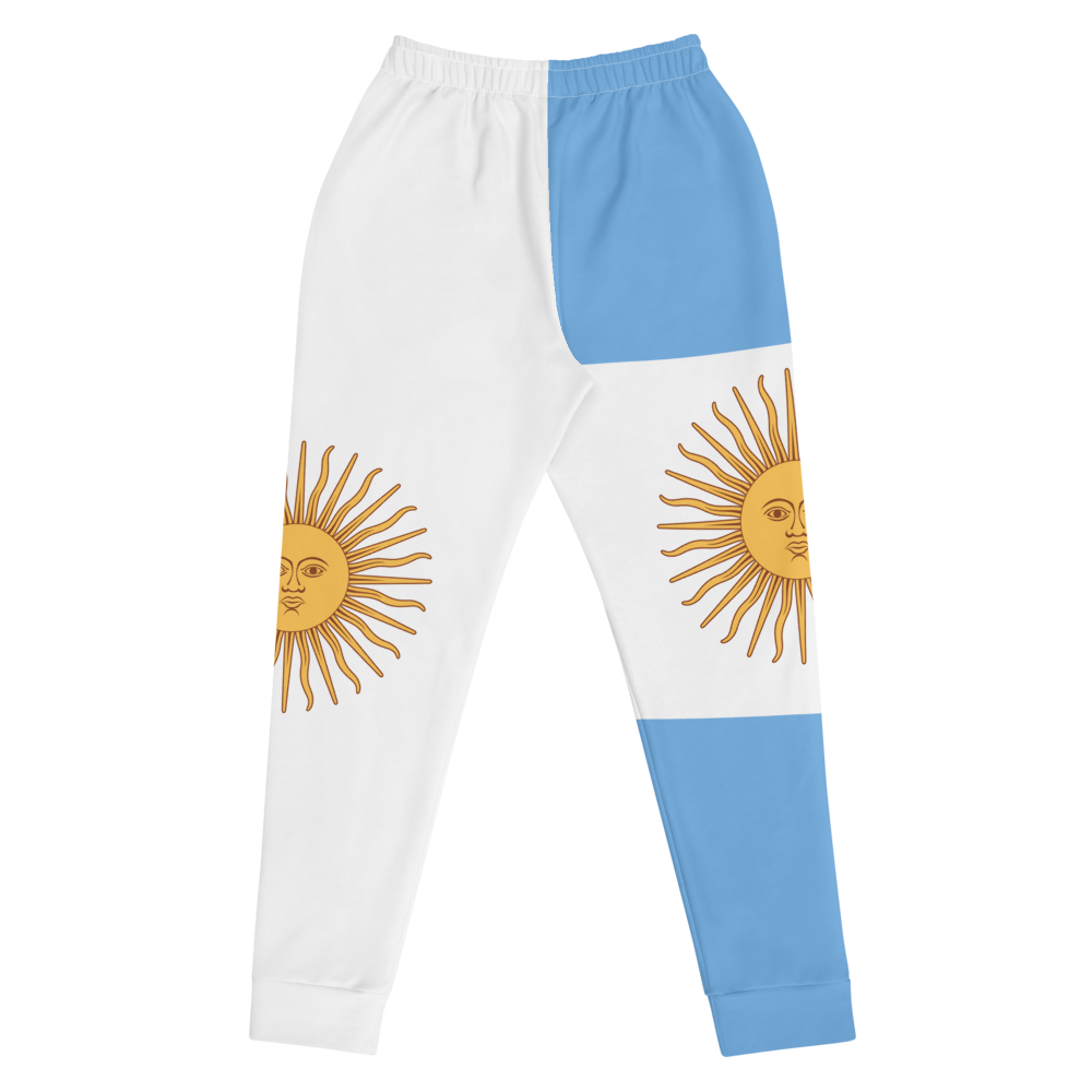 White Jogger Pants inspired by the national flag of Argentina by Volleybragswag