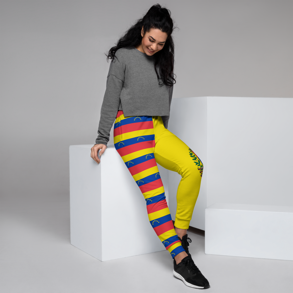 Yellow jogger pants inspired by the national flag of Venezuela by Volleybragswag