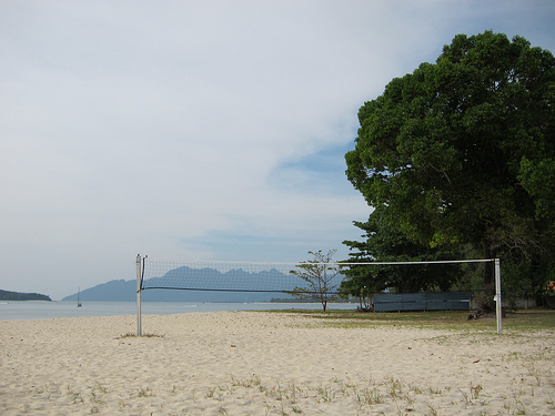 Outdoor Volleyball Court Landscape