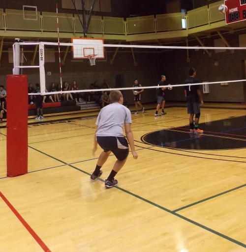 Volleyball lines at Stupak Community Center
