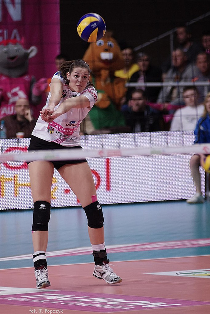 Volleyball pass: Watch the ball from the server's hands cross the net (Jaroslaw Popczyk)