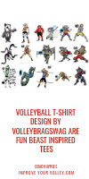 Volleyball T-Shirt Design by Volleybragswag are Fun Beast Inspired Tees by April Chapple