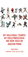 My Volleyball TShirts by Volleybragswag are now sold on amazon Prime by April Chapple