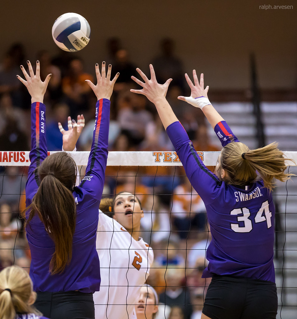 Volleyball Hits: The wipe describes a spiker's arm motion when the attacker aims the ball for an opposing blocker's outside hand. (Ralph Aversen)