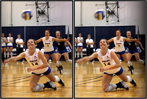 Girls volleyball skills digging
