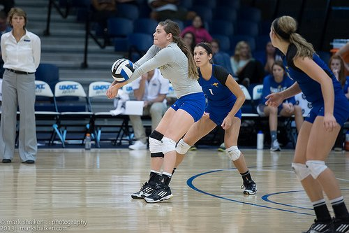 Neutralizing your opponent's service game with accurate serve receive and passing skills is an important key to the success of your team's offensive game. (photo Marks KC Shaikes)