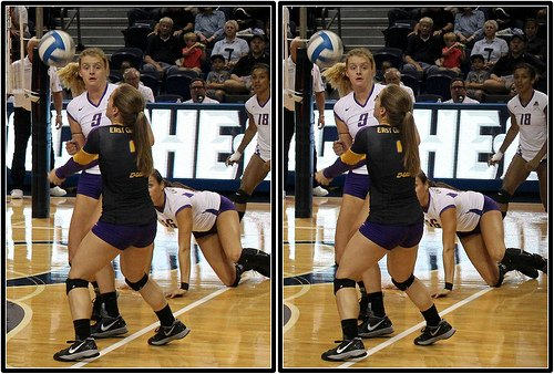 Positions in volleyball: East Carolina libero passes a ball