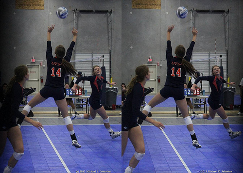 If you are the volleyball setter on your team, then you are in charge of directing the play for the offensive attack. Conference USA Tulsa volleyball setter in action  (photo Michael E. Johnston)