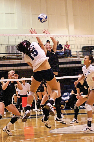 Types of Hits in Volleyball: Players have various offensive strategies or