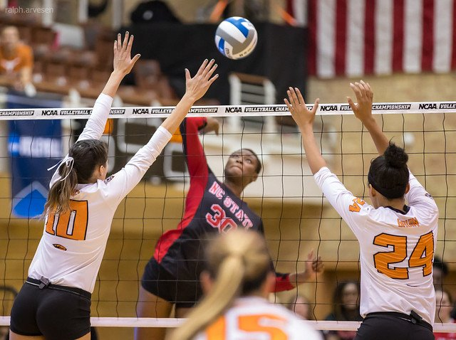 An attack hit or a spike is the third contact in a rally that a player uses with a 3/4 step spike approach and an armswing to send the ball over the net with power. (Aversen)
