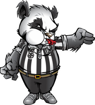 Volleyball T Shirt Ideas By Volleybragswag Is Beast Inspired Attire created in 2013 by April Chapple. Meet Panda Mo.Nium the Volleybragswag Giant Panda - Referee