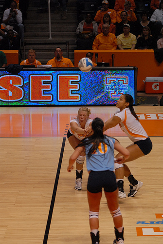 The volleyball bump also known as passing in volleyball is usually the first contact a player makes when their team is on offense and the ball has just come into their court.