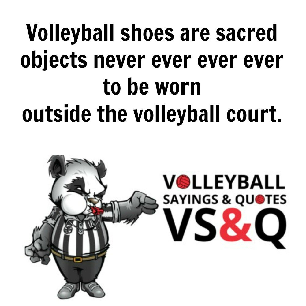 VSQ - Volleyball Quotes and Sayings Volleyball Shoes are Sacred