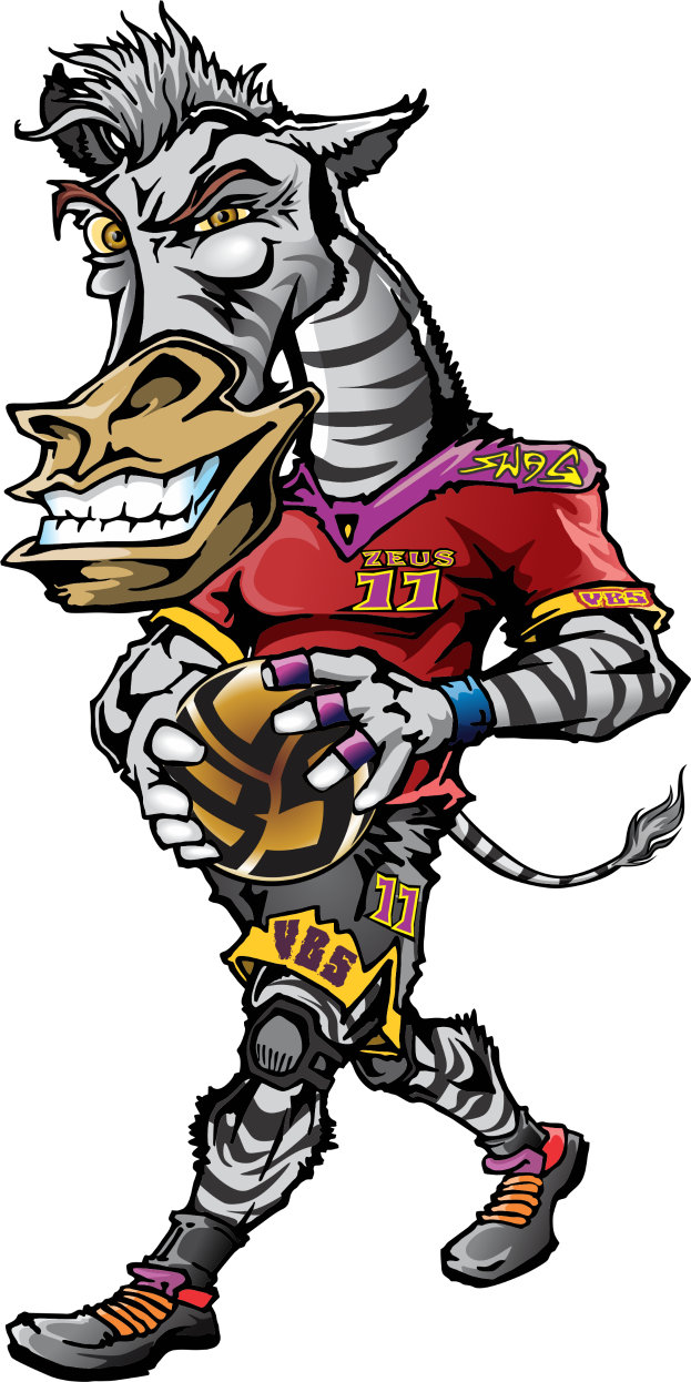 Animal T Shirt Ideas For Volleyball Players: Zeus the Volleybragswag Zebra - Left Side Hitter All VBS Beast First Team