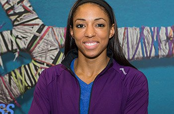Asics volleyball sponsored athlete USA Volleyball Olympic silver medalist Alisha Glass