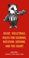 Basic Volleyball Rules For Scoring, Rotation, Serving and the Court by April Chapple