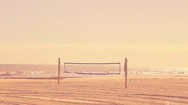 Volleyball Net Height: Net on the sand