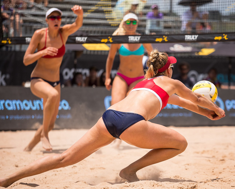 Another major benefit of playing beach volleyball is that you increase foot speed when transitioning from the sand court to playing on the beach. (Ralph Aversen)