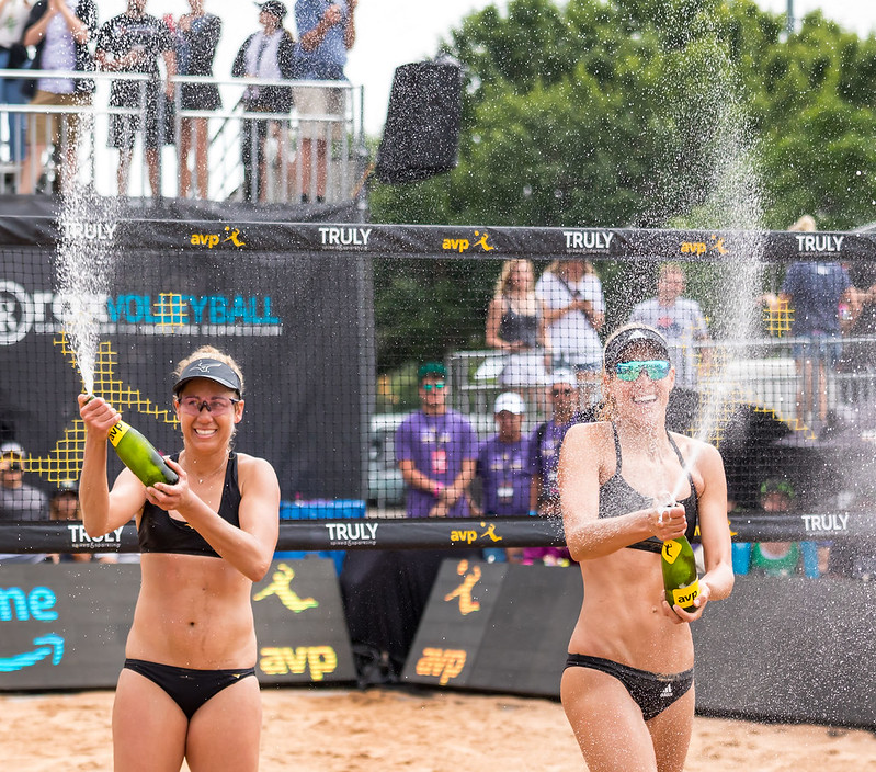 April Ross partnered with Alex Klineman with the goal of the duo preparing to qualify as one of the two  beach teams to represent the USA in the Tokyo 2020 Olympics. (Ralph Aversen)