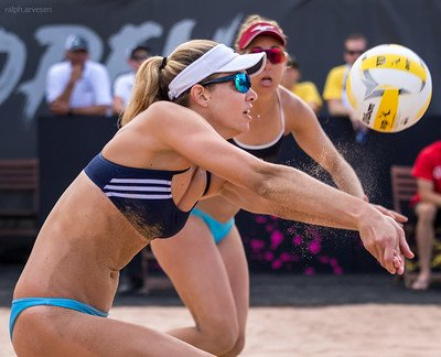 Beach volleyball passing; If you can't pass then you can't play the game. This is valid for the indoor game but more true for new beach players learning the sand game. (Ralph Aversen)