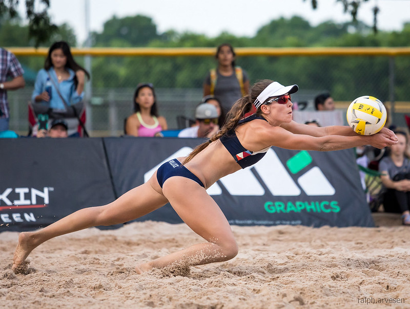 Beach Volleyball Setting: What are sand legs? To be clear sand legs happen when your leg muscles are strengthened by consistent exercising in the sand. (Ralph Aversen)