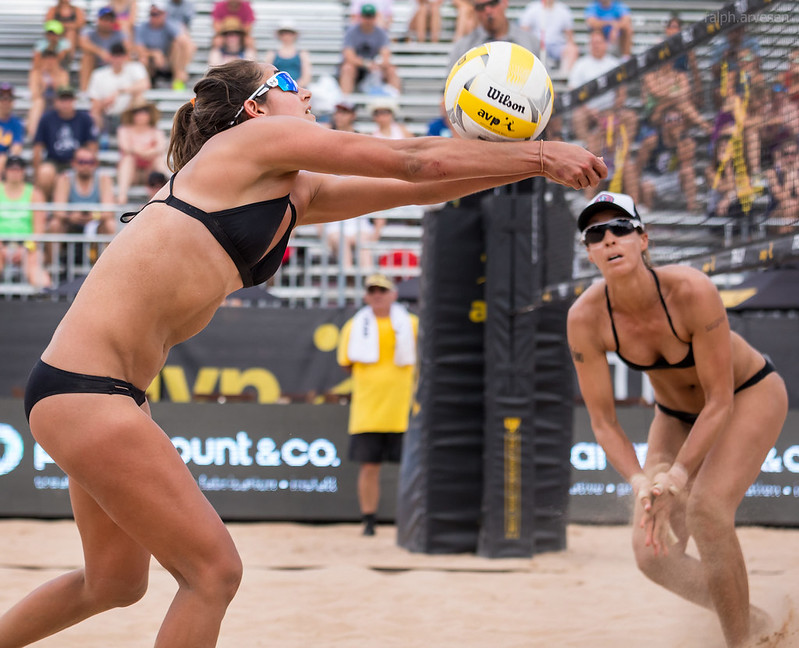 When playing beach volleyball even without becoming aware of it, the more you run, jump and play in the sand, the more you develop strength in your legs. (Ralph Aversen)