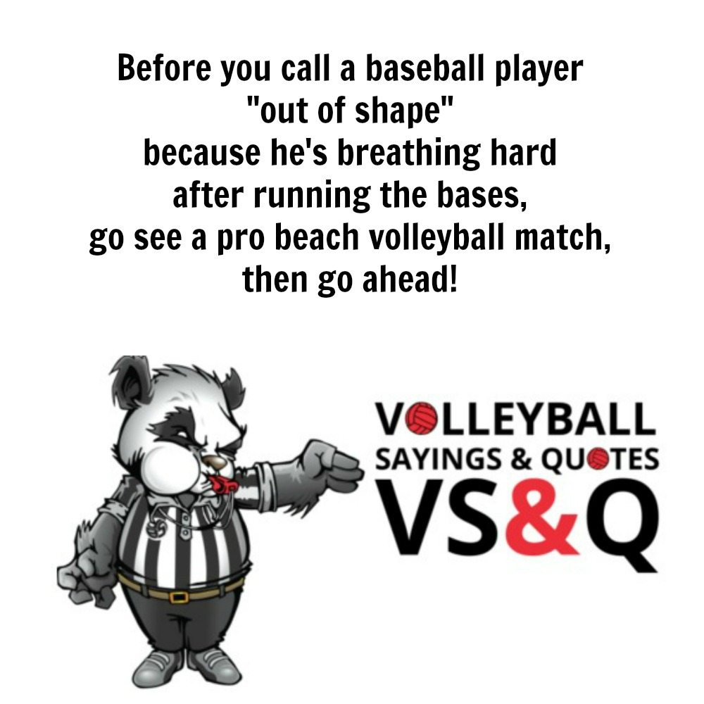 VSQ - Volleyball Quotes and Sayings Before You Call A Baseball Player