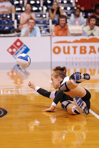 There are two terms in volleyball that describe what happens when you dig the ball using your face instead of using your hands. The facial and the six pack.