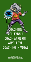 Coaching Volleyball Coach April on Why I Love Coaching in Vegas
