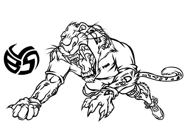 Volleybragswag Jaguar Coloring Pages