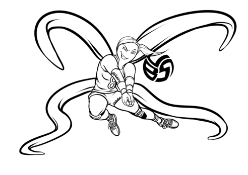Volleybragswag Octopus Coloring Pages