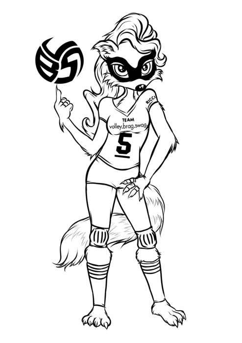 Volleybragswag Raccoon Coloring Pages