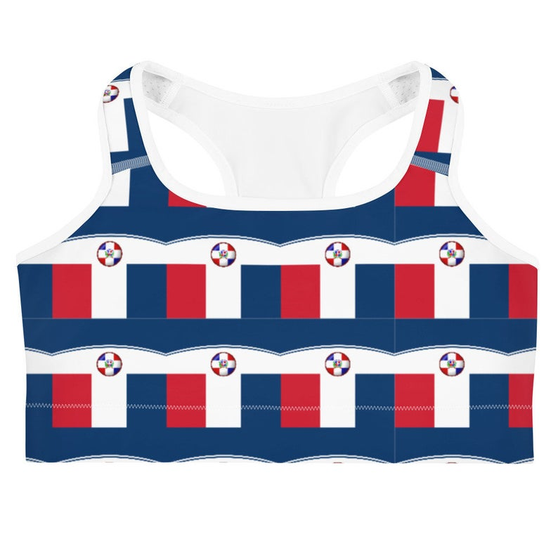 Now available are the Volleybragswag national flag of Dominican Republic inspired sports bra and shorts set combinations!